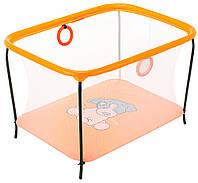 Манеж Qvatro LUX-02 мелкая сетка  оранжевый (dog), фото 1