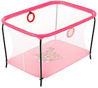 Манеж Qvatro LUX-02 мелкая сетка  розовый (tiger), фото 1
