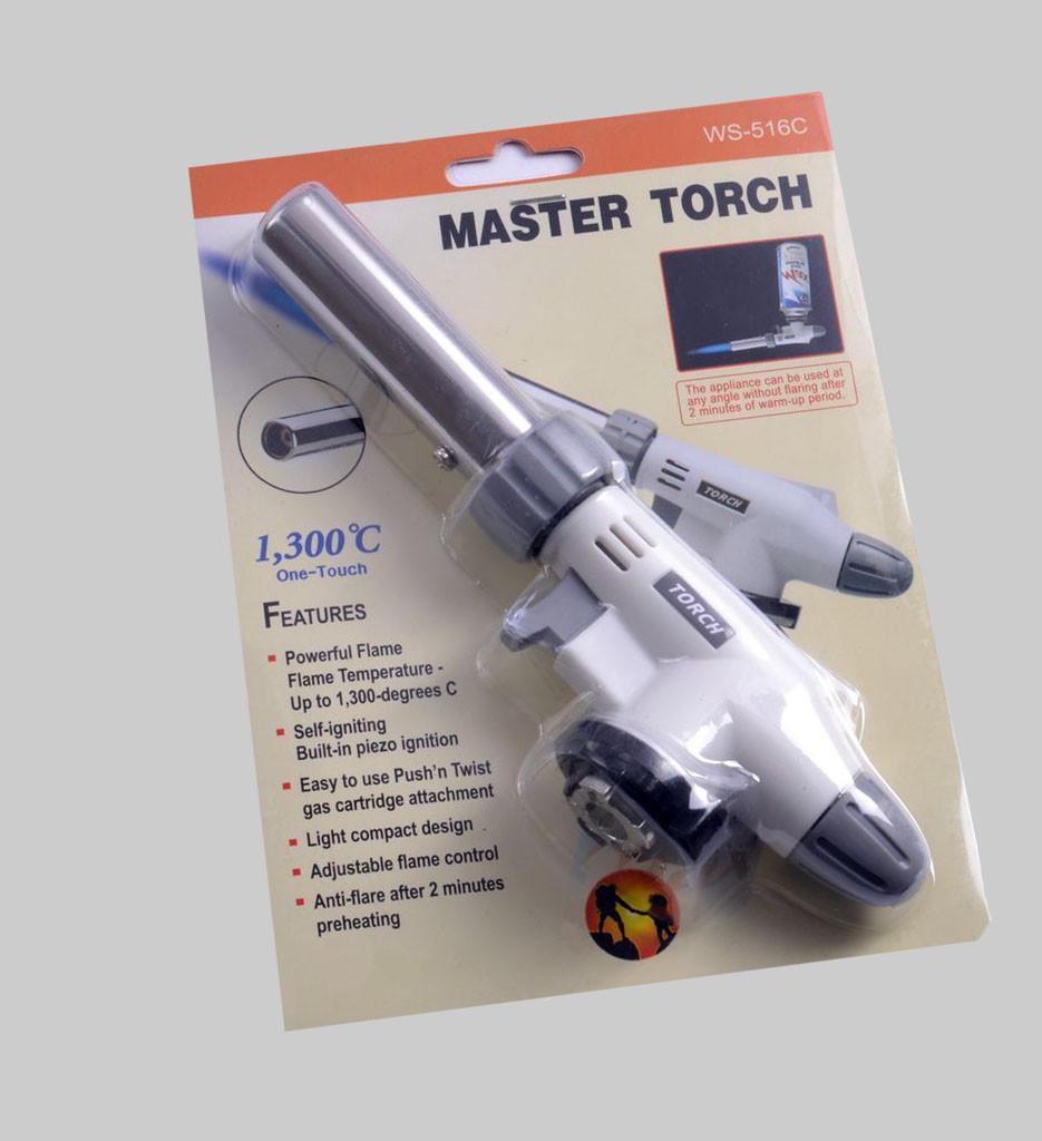 Горелка с пьезоподжигом Master Torch