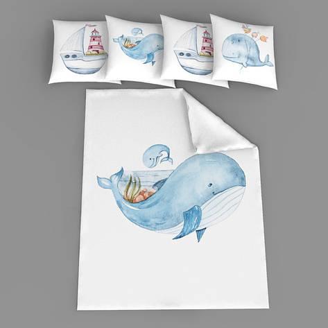"""Набір сатинових панелей """"Голубий кит"""", фото 2"""
