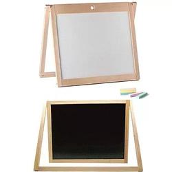 Деревянная доска для рисования 2-х сторонняя 38*50см. Развивающий подарок для ребенка от 3 лет.