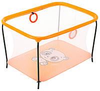 Манеж Qvatro LUX-02 мелкая сетка  оранжевый (panda), фото 1