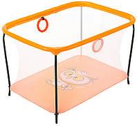 Манеж Qvatro LUX-02 мелкая сетка  оранжевый (owl), фото 1