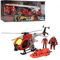 Детский игровой набор Спасатели с фигурками и вертолетом. Интересный подарок для мальчика от 3 лет