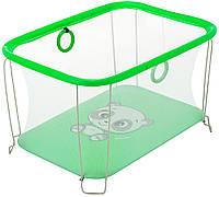 Манеж Qvatro Солнышко-02 мелкая сетка  зеленый (panda), фото 1