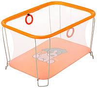 Манеж Qvatro Солнышко-02 мелкая сетка  оранжевый (dog), фото 1