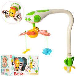 Карусель Бабочки Wen Sheng разноцветная, мобиль для новорожденных. Развивающая игрушка со светом и звуком