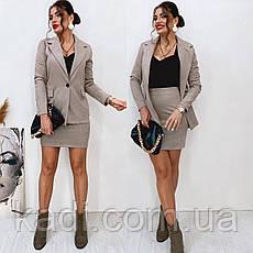 Замшевый костюмчик с юбкой /арт.342, фото 2