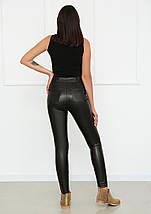 """Штаны женские теплые кожаные на флисе """"Kors""""  Норма и Батал, фото 3"""