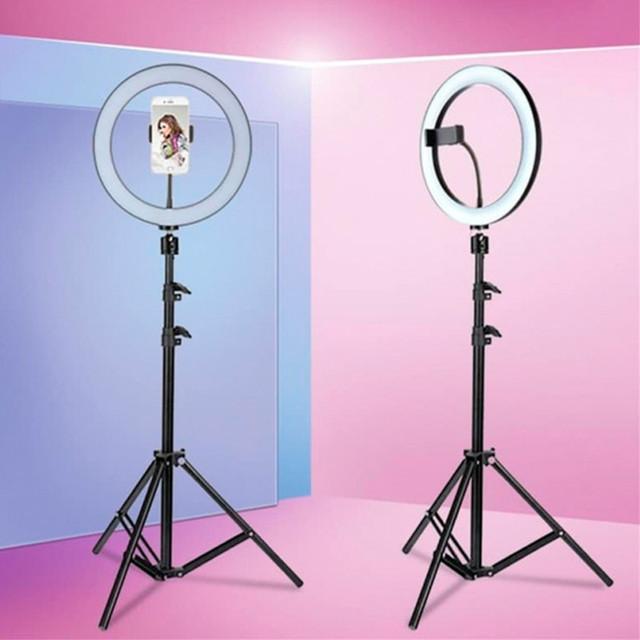 Кольцевая LED лампа светодиодная 33 см пульт и штатив 2 м AL-33 кольцевой свет светодиодное кольцо