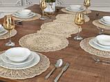 Раннер с ажурными текстильными салфетками на стол узкая скатерть дорожка на стол из полиэстера, фото 2