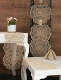 Раннер с ажурными текстильными салфетками на стол узкая скатерть дорожка на стол из полиэстера, фото 3