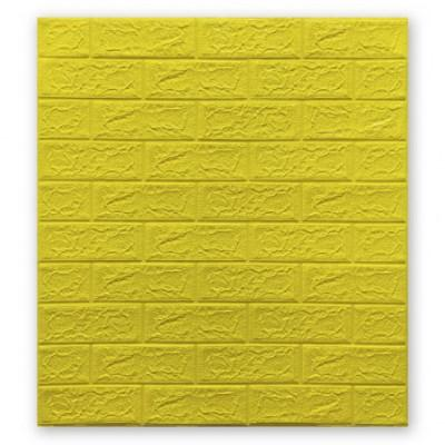 Мягкие 3D панели 700x770x5мм (самоклейка) Желтый Кирпич