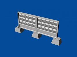 Набор советских бетонных заграждений тип ПО-3. 1/144 METALLIC DETAILS MDR14403