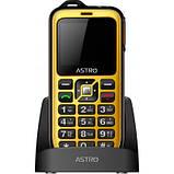 Мобильный телефон Astro B200 RX Black Yellow, фото 10