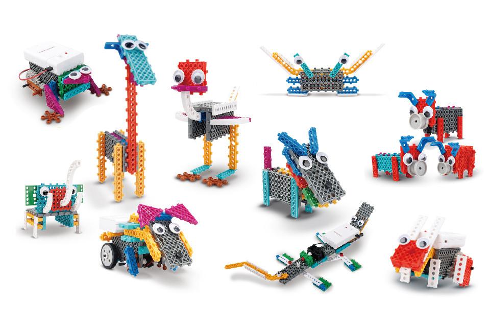 Конструктор электронный детский HIQ B711 12-в-1 173 детали (животные)