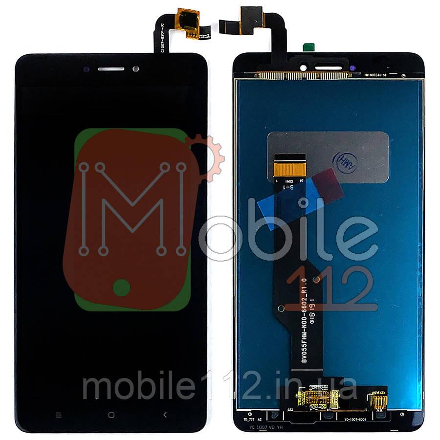 Экран (дисплей) Xiaomi Redmi Note 4X, Note 4 Global 3/32 2016102 + тачскрин черный оригинал Китай