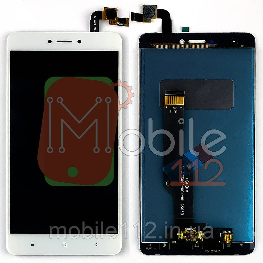 Экран (дисплей) Xiaomi Redmi Note 4X, Note 4 Global 3/32 2016102 + тачскрин белый оригинал Китай