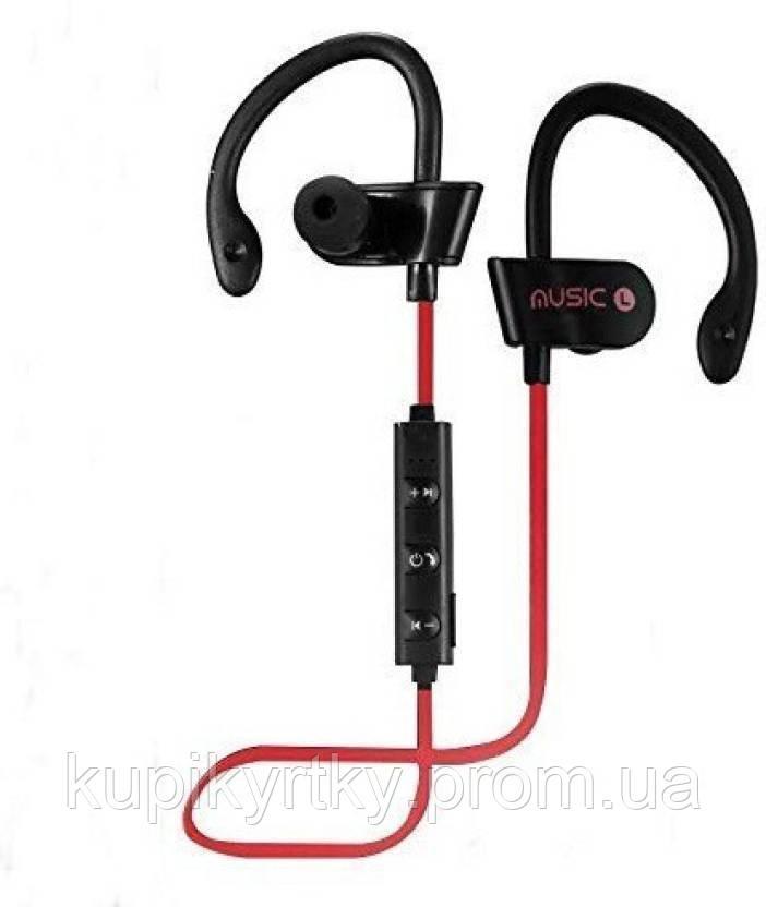 Беспроводные спортивные Bluetooth наушники MDR RT 558 BT с креплением на ухо