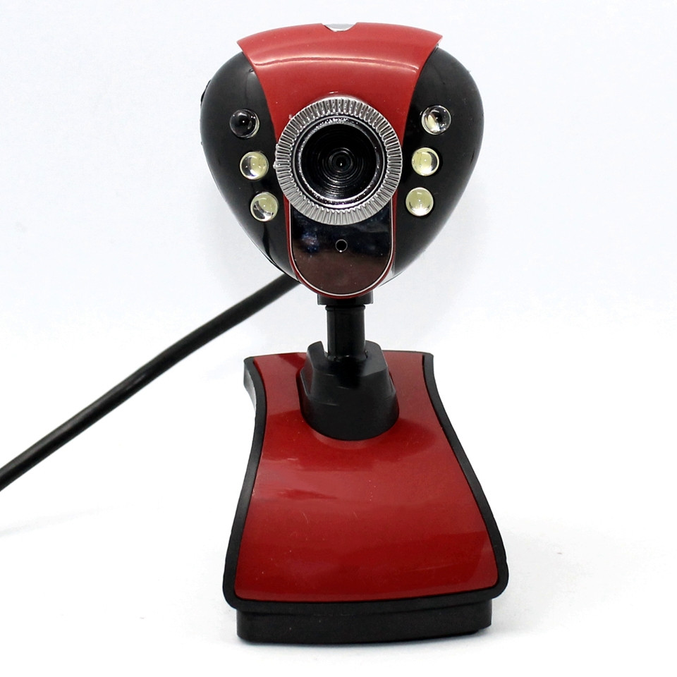 Проводная компьютерная веб-камера с микрофоном и LED подсветкой DL899 USB Webcam на прищепке для учебы