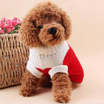 Теплый свитер для собак Taotaopets 675501 Red XXL домашних животных