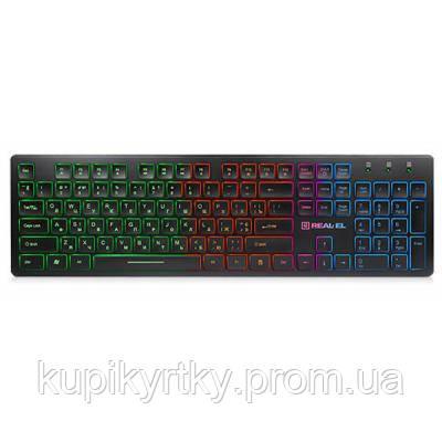 Клавиатура REAL-EL 7070 Comfort Backlit, black