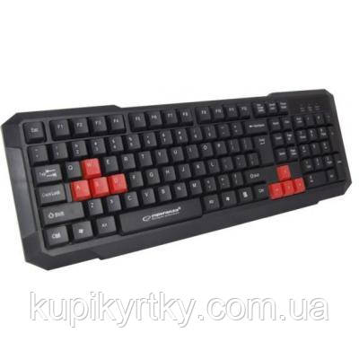 Клавиатура Esperanza EGK102 Red USB (EGK102RUA)