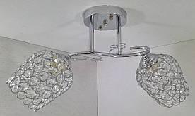 Люстра потолочная на 2 лампочки 2229/2B-ch Хром 24х20х48 см.