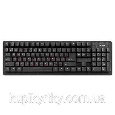 Клавиатура SVEN 301 Standard USB+PS/2 Black