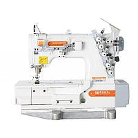 Siruba F007K-W162H-356/FHA/DFKU1-0 плоскошовная швейная машина (распошивалка) с высоким подъемом лапки и