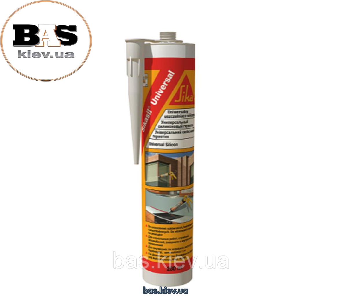 SIKASIL®-UNIVERSAL Герметик силиконовый Sika универсальный (белый) , 280мл