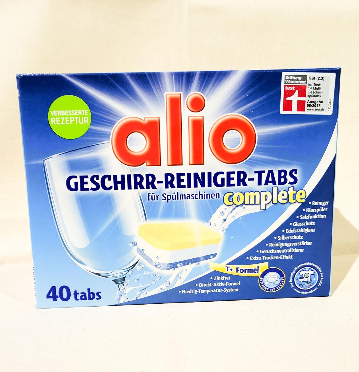 Таблетки посудомоечные Alio