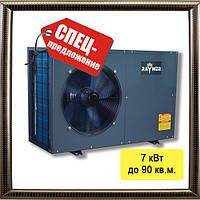 Тепловой насос воздух-вода Raymer FA-02 на 7 кВт (моноблочного типа) до 90кв.м., 5 лет гарантия на компрессор
