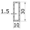 Штанга для душа (труба) прямоугольная 30х10, фото 2