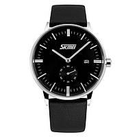 Skmei 9083 submarine черные с черным  мужские  классические часы, фото 1