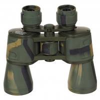 Бинокль 10x50 Ruby lens, лесной камуфляж, с чехлом MFH