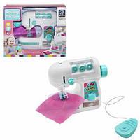 Детская швейная машина 822 с нитками в наборе и автоматической педалью, световые эффекты