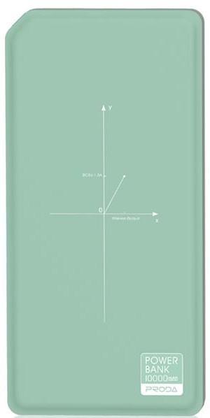 Портативное зарядное устройство Proda 10000mAh Chicon Wireless green+black