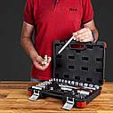 """Автомобильный набор инструментов для авто кейсы. Набор насадок торцевых и бит 3/8"""" 39шт CrV (6003092), фото 8"""