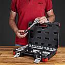 """Автомобильный набор инструментов для авто кейсы. Набор насадок торцевых и бит 3/8"""" 39шт CrV (6003092), фото 6"""