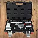 """Автомобильный набор инструментов для авто кейсы. Набор насадок торцевых и бит 3/8"""" 39шт CrV (6003092), фото 5"""