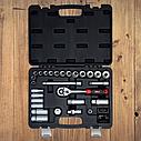 """Автомобильный набор инструментов для авто кейсы. Набор насадок торцевых и бит 3/8"""" 39шт CrV (6003092), фото 3"""