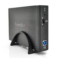 "Карман TransyStar, 3,5""алюминиевый корпус,интерфейс USB2.0 SATA, black"