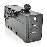 ИБП Ritar  RTP800L-U (480W) Proxima-L, LED, AVR, 2st, USB, 2xSCHUKO socket, 1x12V9Ah, plastik Case ( 340 x 140