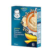 Каша молочна Gerber Вівсяно-Пшенична Банан Манго, 6+, 240г