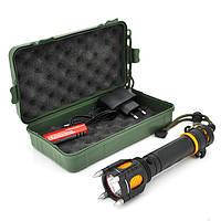Фонарик ручной XINSITE HG-007, LED 3 реж., Zoom,  корпус- алюминий, ударостойкий, 18650 ак-тор, СЗУ, BOX