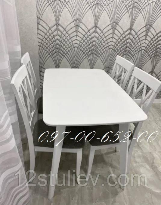 Кухонный Комплект Венеция 120 Стол + 4 стула Не раскладной