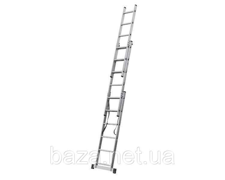 Трехсекционные лестницы KRAUSE Трехсекционная лестница KRAUSE Corda 3x6 ступеней