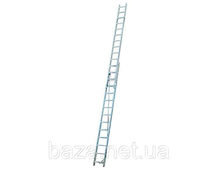 Двухсекционные лестницы KRAUSE Двухэлементная лестница, выдвигаемая тросом Corda KRAUSE 2x14 ступеней