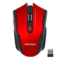 Мышь беспроводная Fantech W4 RAIGOR, 6 кнопок, 800-2000 DPI, Win7/8/10 Mac OS, RED, COLOR BOX